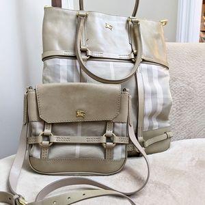 Burberry cross body handbag tote purse
